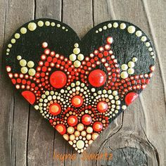 Hand painted wood magnet,sealed with varnish for protection and long lasting colours. Dot Art Painting, Rock Painting Designs, Pebble Painting, Painting Patterns, Pebble Art, Stone Painting, Mandala Art, Mandala Painting, Mandala Pattern