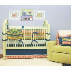 Mod Squad 3 Piece Crib Bedding Set