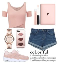 """""""😍"""" by gabrielledixon ❤ liked on Polyvore featuring Puma, Lipsy, Zara, MAC Cosmetics, Casetify and Marc Jacobs"""