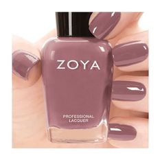 Zoya Nail Polish in Madeline from the Naturel 2 Collection. A full-coverage muted mauve cream.