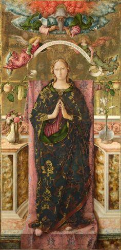 Carlo Crivelli - Immacolata Concezione - 1492 - Londra, National Gallery