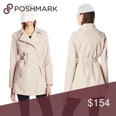 ✨ Lightweight Spring Beige Twill Belted Coat XL This gorgeous high quality, lightweight short trench style coat will keep you warm and dry without adding too much bulk. Great for layering! Pockets give you the function of a utility jacket, but with a slimmer look.   Shell 57% cotton 43% polyester   ❌ Sorry, no trades.  270144  utility  fairlygirly Jessica Simpson Jackets & Coats Utility Jackets