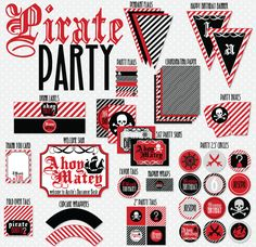 Pirate Printable Party by Love The Day
