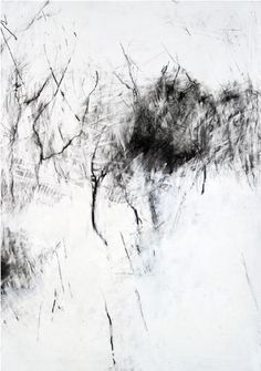 Winter Trees, Snow in the Garden by Hannah Woodman Create surfaces with layers of medium (charcoal, pencil ,graphite) and rub away with plastic rubbers: