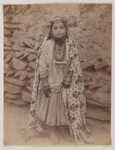 Girl Adorned in Silver Jewelry (un-named) Artist:Antoin Sevruguin Medium:Albumen silver photograph Place Made:Tehran, Iran