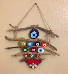 Etamin, keçe, çocuklar ve hayata dair komik bir blog Diy Arts And Crafts, Crafts For Kids, Diy Crafts, Hanging Mobile, Felt Baby, Painted Sticks, Driftwood Art, Fabric Jewelry, Felt Ornaments