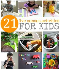 Pinterest Pin of the Week: 21 – 5 Sense Activities for Kids - Pinned by @PediaStaff – Please Visit http://ht.ly/63sNt for all our pediatric therapy pins