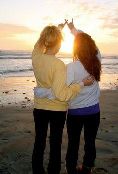 Dark blue ocean; light blue sky; golden morning sun. <3 xoxi