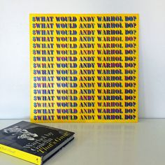 "What would Andy Warhol Do?. Original hand-painted and one-of-a-kind. Typography in Warhol style. Imperfections are part of the beauty of this piece. Measures 24"" x 24."". Lightweight and easy to frame or prop on surface. 