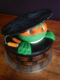 ninja turtle mutant teenage cake