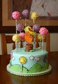 The Lorax by Tasty Cakes by Jennifer, via Flickr  LOVE the Truffella trees!!! - Courtney - great idea to add to your cakes!