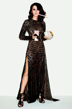 Penelope Cruz in Givenchy Haute Couture by Riccardo Tisci gown and sandals