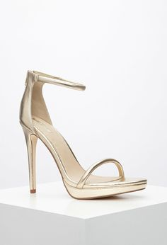 Metallic Ankle-Strap Sandals | Forever 21
