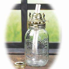 Mason Jar Oil Lamp Kit - Lamp Making - Basic Craft Supplies - Craft Supplies Mason Jar Crafts, Mason Jar Diy, Mason Jar Lamp, Brass Lantern, Antique Lanterns, Lantern Lamp, Wine Bottle Centerpieces, Wine Bottles, Ball Jars
