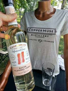 #Bacon #Vodka! You have to love that. #CopperMuse #Distillery from #FortCollins #Colorado #alcohol #liqueur #infusedliquor #rum . .  #distillers #brewery #booze #whiskey #shots #beer #bar #scotch #bourbon #tastingroom #cocktails #gin #mixology #whiskey #moonshine #martini #craftspirits