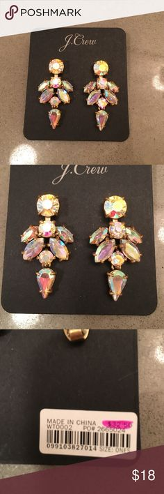 J Crew Earrings Super sparkly and a great addition to your jewelry collection🔑‼️ never been worn, in perfect condition. Still on their cardboard J. Crew Jewelry Earrings