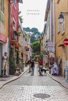 .~Inside the Streets of Cassis, France~.
