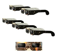 Solar Eclipse Glasses   ISO & CE Certified Safe Solar Eclipse Shades   Viewer and Filters   Protection For All Ages (5 Pack) Solar Glasses, Solar Eclipse Glasses, Best Sellers, Filters, Shades, Stuff To Buy, Accessories, Machine Parts, Telescope
