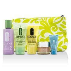 Travel Set: Facial Soap + Clarifying Lotion #2 + DDML+ + Moisture Surge + Turnaround Concentrate + Bag - 5pcs+1bag