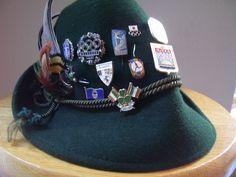 Vintage Alpine Hat with Pins