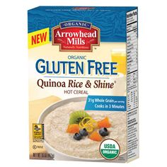 Start the day with a wholesome hot cereal that cooks up in only three minutes with Arrowhead Mills Organic Gluten Free Quinoa Rice