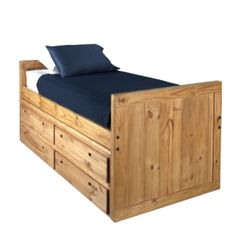Twin Captain S Bed Saah Unfinished Furniture Available