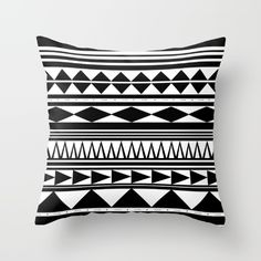 Tribal Couch Throw Pillow by Haleyivers - Cover x with pillow insert - Indoor Pillow