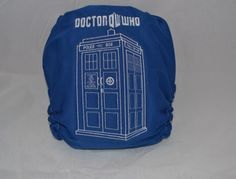 Tardis Inspired  OS Pocket Diaper by CTGreenBaby on Etsy, $20.00