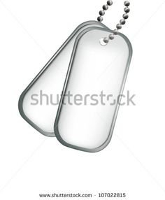 military dog tags sketch - Google Search