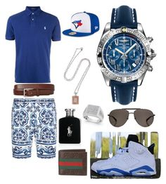 """""""Casual"""" by pitbull8382 on Polyvore featuring Dolce&Gabbana, Polo Ralph Lauren, Breitling, Gucci, Ralph Lauren, Marco Ta Moko and New Era"""