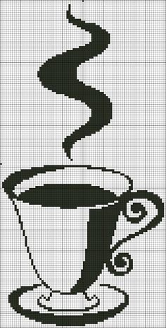 Tea cup cross stitch chart