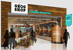 A Duty Free Caribbean Rum Kitchen | Airport Concept on Behance