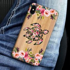 Check this Turtle Wood Flower Phone Case Full Sizes Iphone Samsung . Hight quality products with perfect design is available in a spectrum of colors and sizes, and many different types of shirts! Turtle Life, Sea Turtle Art, Cute Phone Cases, Iphone Cases, Cute Turtles, Sea Turtles, Tortoise Turtle, Tortoises, Anna