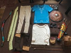 Cosplay Anime Costume All the pieces of my Breath of the Wild cosplay! I was always concerned that I'd forgotten something. Link Cosplay, Cosplay Diy, Halloween Cosplay, Halloween 2020, Link Zelda Costume, Legend Of Zelda Costume, The Legend Of Zelda, Legend Of Zelda Memes, Lolita Cosplay