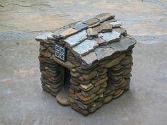 tiny house!  Stonework by Michael Stephens.   #miniature  #craft