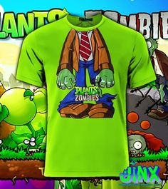 Playera o Camiseta Plantas vs Zombies - comprar online Zombie Birthday, Zombie Party, Zombies Vs, Plant Zombie, Ideas Para Fiestas, Costumes, Halloween, Plants, Projects