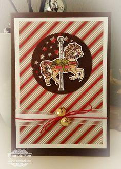 stampin 2017 occasions spring  catalog  sale a bration horse carousel birthday Frühlingskatalog Pferd Christmas Card weihnachtskarte