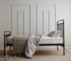 This gunmetal grey/nickel high shine Incy Interiors Louis Bed is perfect for any child\'s bedroom. #oliverthomas #incyinteriors #childsbed #kidsfurniture #boysbed #girlsbed #bed #kidsstyling #kidstrends