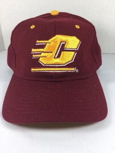 039cf4dfbde NCAA CMU Central Michigan University Chippewas Low Constructed 7 1 2  Acrylic Cap