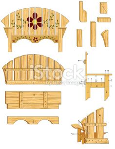 Woodworking Plans Royalty Free Stock Vector Art Illustration