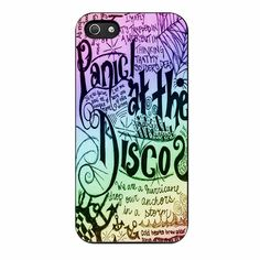 Panic At The Disco Lyric Quotes iPhone 5/5s Case
