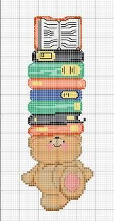 no color chart available, just use pattern chart… Cross Stitch Books, Cross Stitch Bookmarks, Crochet Bookmarks, Cross Stitch Cards, Beaded Cross Stitch, Cross Stitch Baby, Cross Stitching, Cross Stitch Embroidery, Cross Stitch Designs