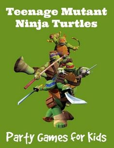 Planning a TMNT party? You'll need some ideas to keep kids engaged and prevent boredom! Check out these Teenage Mutant Ninja Turtles Party Games!