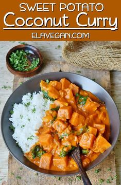 These 15 Comforting Vegan Potato Curry Recipes will fill your house with aromatic spice smells. From chickpea potato curry to vegan sweet potato curry. Coconut Curry Vegan, Sweet Potato Coconut Curry, Chickpea And Potato Curry, Coconut Milk, Vegan Curry, Curry Food, Vegetarian Curry, Vegan Crockpot Recipes, Veggie Recipes