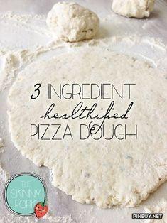 3 Ingredient Pizza Dough [self rising flour, Greek yogurt and seasonings, so easy!] - PinBuy