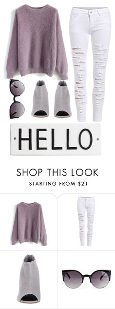 """""""Nice to meet you"""" by monicaanne-123 ❤ liked on Polyvore featuring Chicwish, Manolo Blahnik, NLY Accessories and Rosanna"""