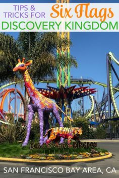 Tips for Six Flags Discovery Kingdom in Vallejo, California. All the top tricks for making the most of a visit to this theme park in the San Francisco Bay Area, with or without kids. #sixflags #sixflagsdiscoverykingdom #discoverykingdom #themepark #california