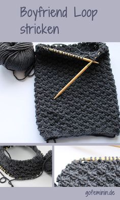 Knit loop scarf yourself: This DIY idea for the friend is just awesome! – Fabric Crafts Diy Knit loop scarf yourself: This DIY idea for the friend is just awesome! Knit loop scarf yourself: This DIY idea for the friend is just awesome! Knitting Stitches, Free Knitting, Baby Knitting, Knitting Patterns, Afghan Patterns, Knitting Ideas, Knitted Bags, Knitted Blankets, Knit Stitches