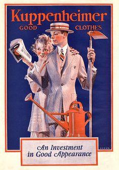 kuppenheimer Clothing Ad by JC Leyendecker