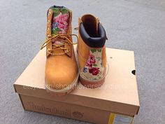 Floral Timberland Boots by FlowerSourDiesel on Etsy
